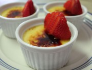 Creme Brulee with Strawberry