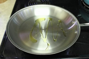 Oil in Frying Pan