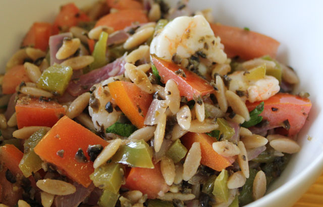 lemon shrimp orzo pasta salad MAIN